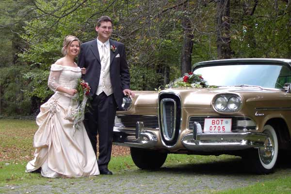 wedding photo with Edsel
