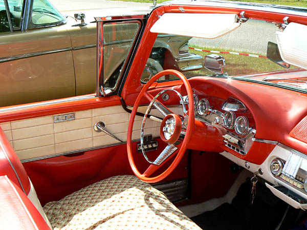 1958 Edsel Convertible inside