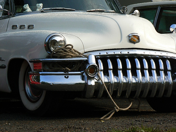 Buick with rope